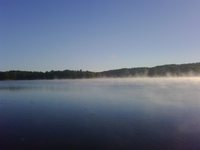 Early morning fog on the lake, submitted by Jean Maess